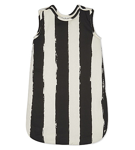 NOE AND ZOE Cotton sleeping bag (Black+stripes