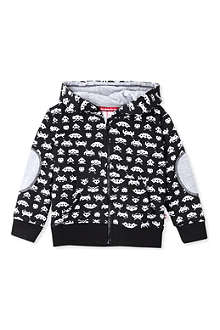 OH BABY LONDON Space Invaders zip-up hoody 6 months-3 years