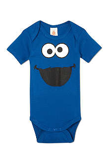 LOGOSHIRT Cookie Monster babygrow 0-24 months
