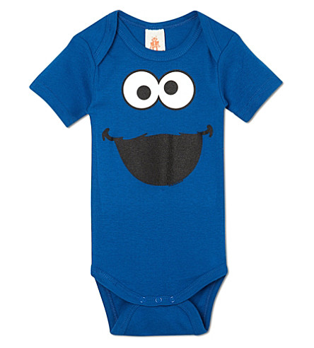 LOGOSHIRT Cookie Monster babygrow 0-24 months (Blue