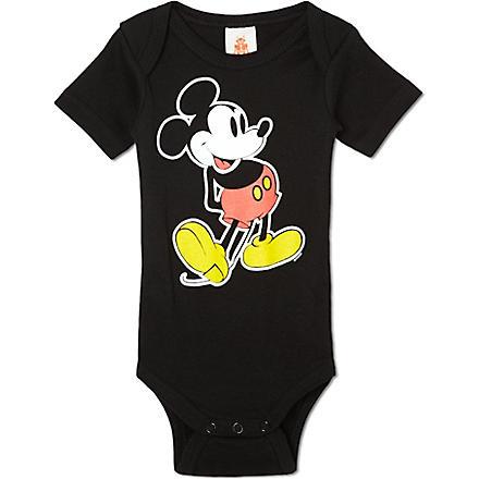LOGOSHIRT Mickey Mouse classic babygrow 0-24 months (Black