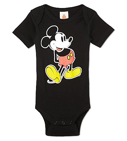 LOGOSHIRT Mickey Mouse classic babygrow 0-24 months (Black