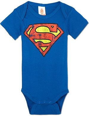 LOGOSHIRT Superman logo bodysuit 0-24 months