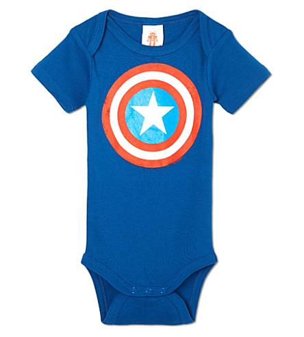 LOGOSHIRT Captain America bodysuit 0-24 months (Blue