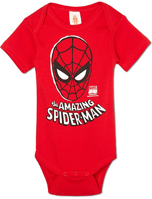 LOGOSHIRT Spiderman mask bodysuit 0-24 months