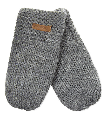 BARTS BV Yumma knitted mittens (Heather+grey