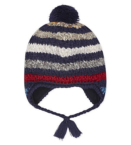 BARTS BV Polly inka striped hat 1-3 years (Navy