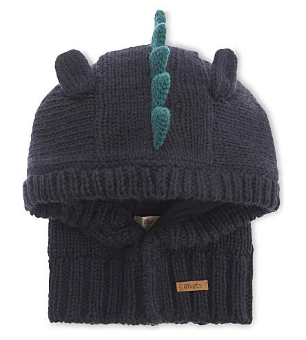 BARTS BV Cria knitted dinosaur hood (Navy