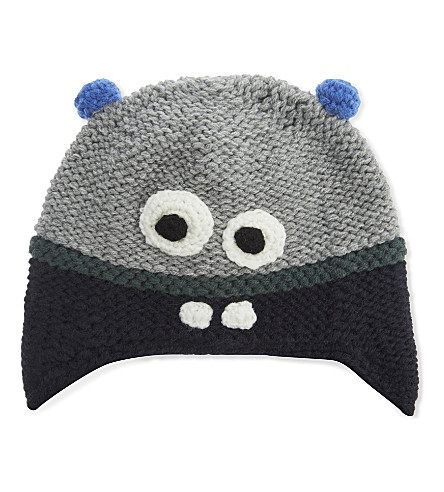 BARTS BV Joey monster knitted hat (Heather+grey