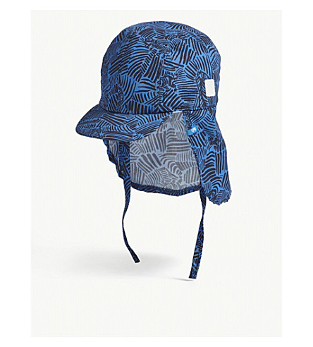 BARTS BV Tench zebra-print cotton sun hat (Blue