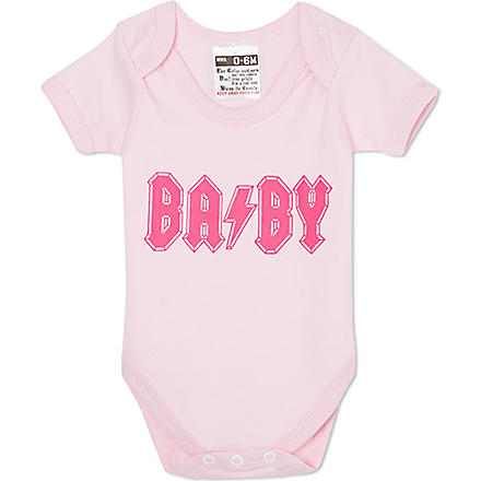 NIPPAZ WITH ATTITUDE BA/BY baby-grow 0-12 months (Pink