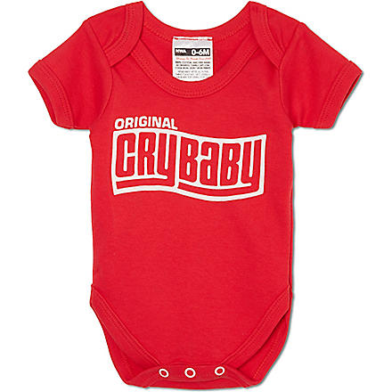 NIPPAZ WITH ATTITUDE Original Cry Baby babygrow 0-12 months (Red