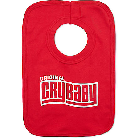 NIPPAZ WITH ATTITUDE Original Cry Baby bib (Red/white