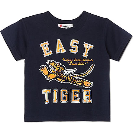 NIPPAZ WITH ATTITUDE Easy Tiger t-shirt 1-2 years (Navy/orange