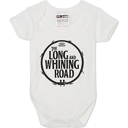 NIPPAZ WITH ATTITUDE Long whining road babygrow 0-12 months (White/black
