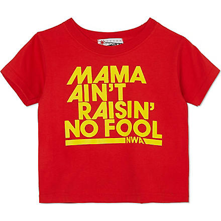 NIPPAZ WITH ATTITUDE Mama Ain't Raisin' No Fool t-shirt 1-2 years (Red