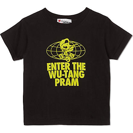 NIPPAZ WITH ATTITUDE Enter the Wu-Tang Pram t-shirt 1-2 years (Black/yellow