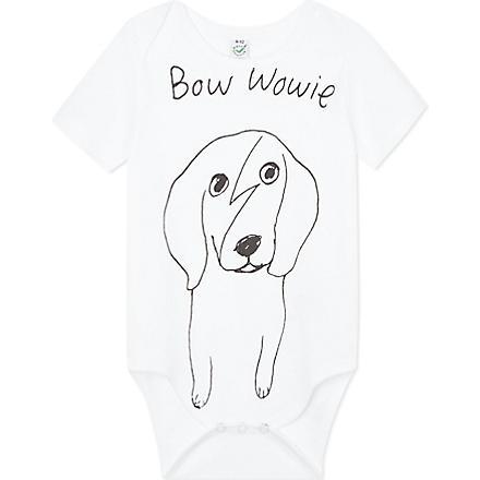 BLACK SCORE Bowie Wowie babygrow 0-18 months (White