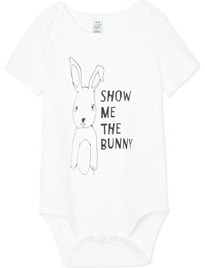 BLACK SCORE Show Me The Bunny babygrow 0-18 months