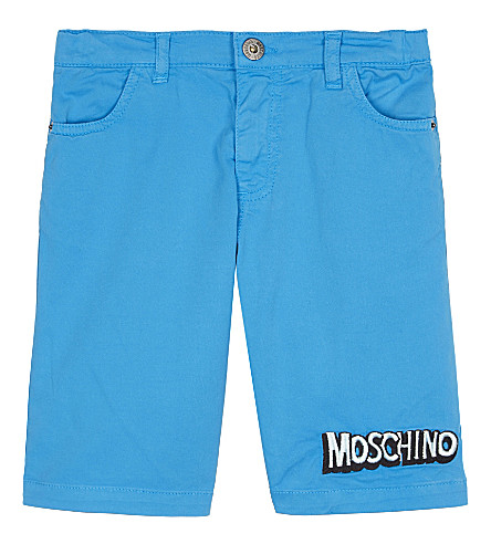 MOSCHINO Bubble logo cotton shorts 4-14 years (Holiday