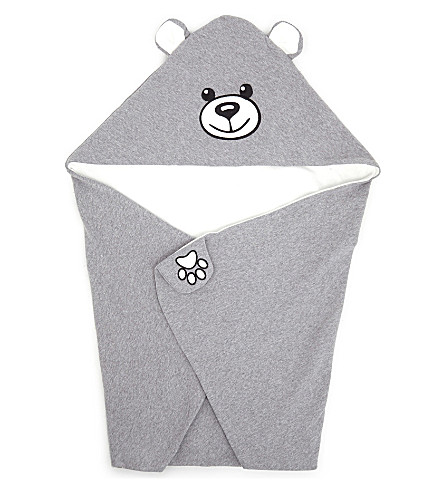 MOSCHINO Hooded bear blanket (Grey