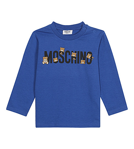 MOSCHINO Logo cotton-blend T-shirt 3-36 months (Blue
