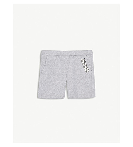 MOSCHINO Logo print cotton shorts 6-36 months (Grey