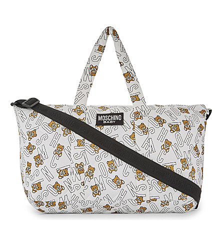 MOSCHINO Teddy bear changing bag (White