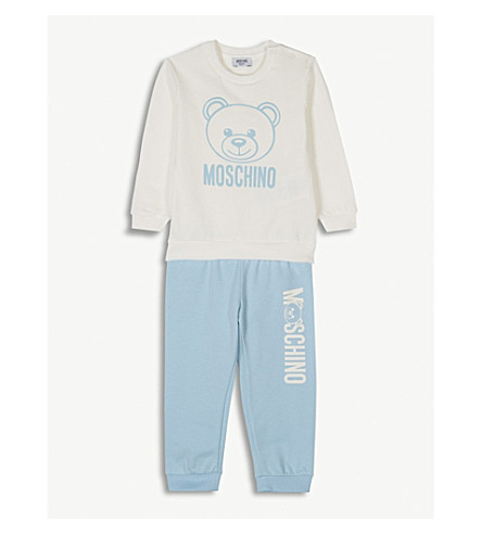MOSCHINO Jumper and jogging bottoms set 6-36 months (Blue
