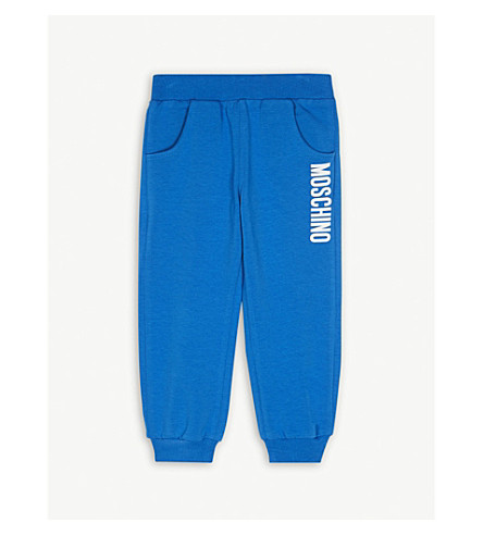 MOSCHINO Logo cotton-blend jogging bottoms 6-36 months (Blue