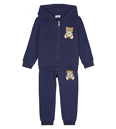 MOSCHINO Teddy bear cotton tracksuit 3-36 months (Navy