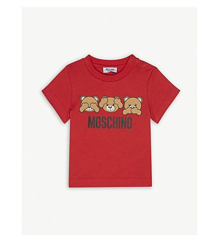 MOSCHINO Teddy bear cotton-blend t-shirt 6-36 months (Red