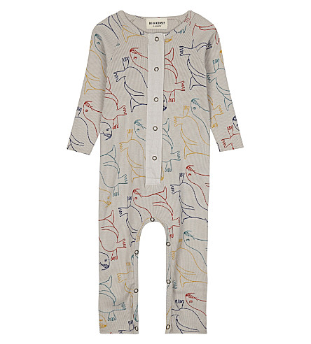 BOBO CHOSES Otter printed cotton babygrow 3-24 months (Beige