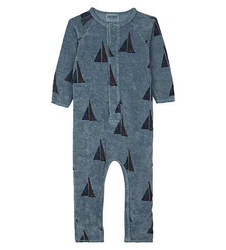 BOBO CHOSES Boat sail print organic cotton baby-grow 3-24 months (Blue