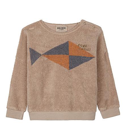 BOBO CHOSES Fish print organic cotton jumper (Pink