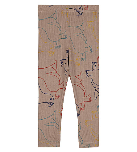 BOBO CHOSES Otter printed cotton leggings 3-24 months (Pink