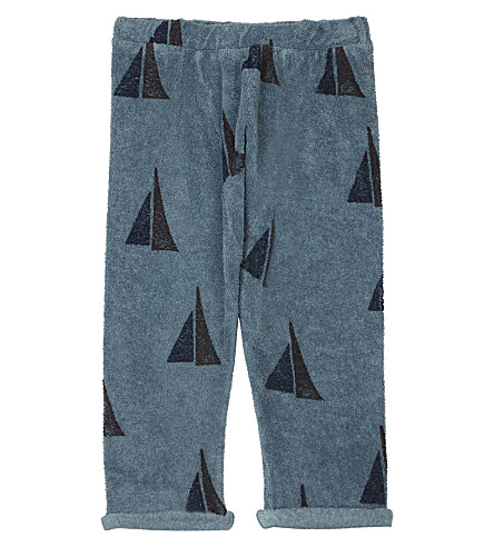 BOBO CHOSES Sail print knitted organic cotton jogging bottoms 3-24 months (Blue
