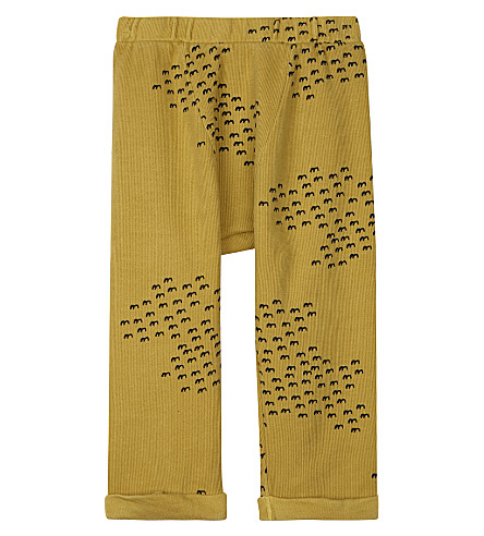 BOBO CHOSES Brid-print cotton trousers 3-24 months (Yellow