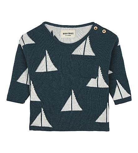 BOBO CHOSES Sail print knitted wool-blend jumper 3-24 months (Green