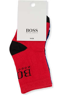 BOSS Pack of two logo socks