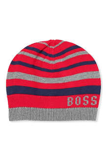 BOSS Striped beanie hat 3 months - 4 years