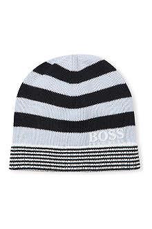 HUGO BOSS Stripe-knit beanie hat 3 months-8 years