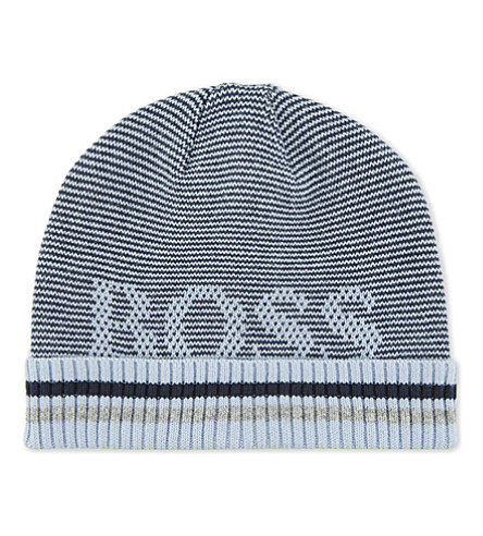 BOSS Knitted cotton beanie (Navy