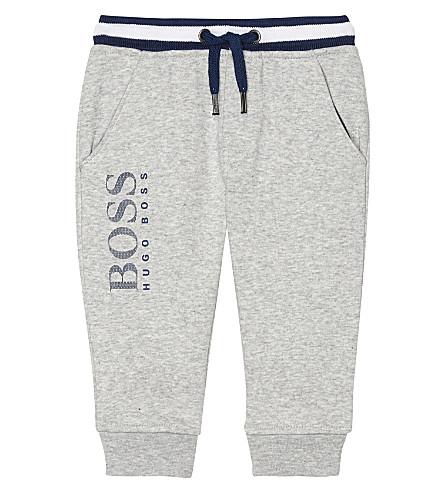 BOSS Logo cotton-blend tracksuit bottoms 6-36 months (Grey