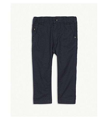 BOSS Chino cotton trousers 6-36 months (Navy