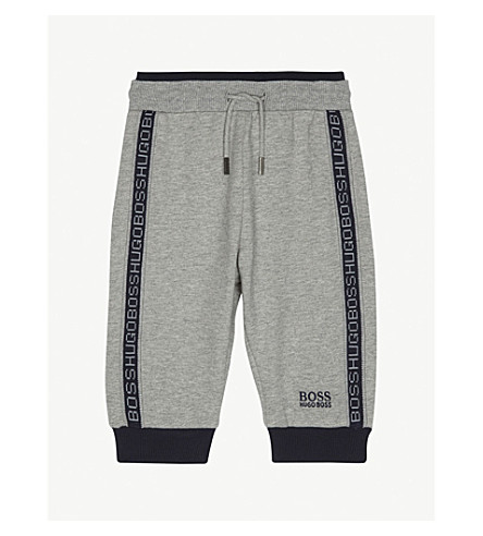 BOSS Logo trim tracksuit bottoms 6-36 months (Grey