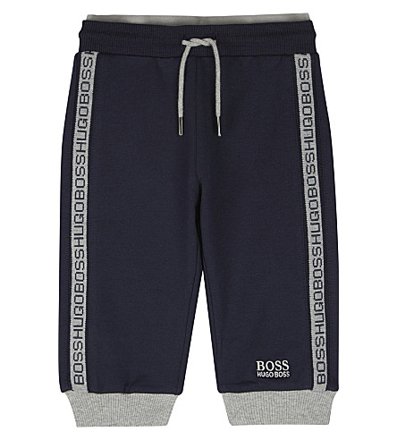BOSS Logo trim tracksuit bottoms 6-36 months (Navy