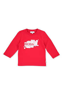 BOSS Square logo long-sleeve t-shirt 6 months-3 years