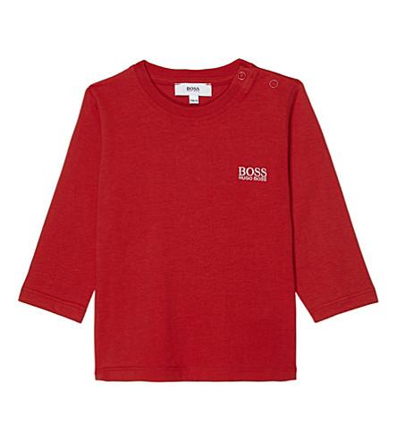 BOSS Classic logo cotton t-shirt 6-36 months (Red