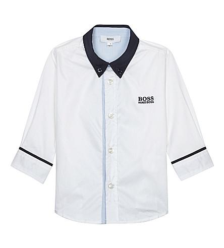 BOSS Boss bb contrast collar shirt (White